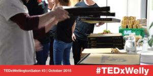 Pizza arrives at TEDxWellington Salon #3