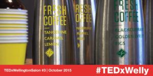 Coffee provided by Flight Coffee for TEDxWellington Salon #3