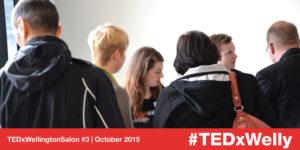 Attendees arriving at TEDxWellington Salon #3
