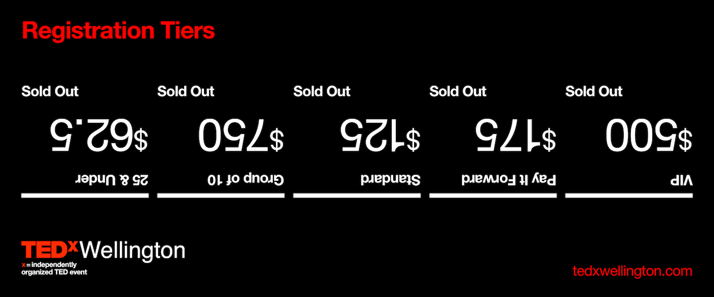 TEDxWellington SOLD OUT