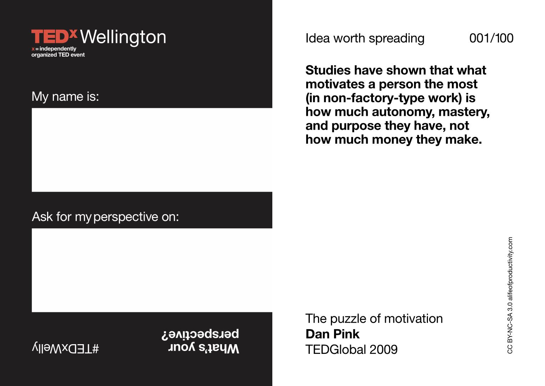 TEDxWelly 2017 lanyards